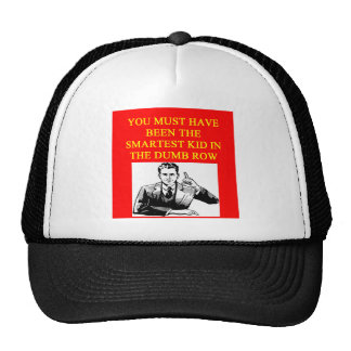 a stupid  insult mesh hat