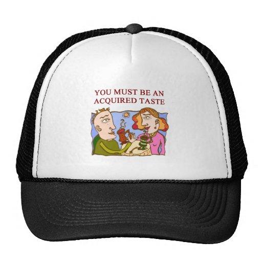 a subtle insult mesh hat