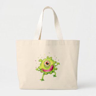 A successful green monster jumbo tote bag
