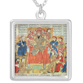 A Sultan and his Court Silver Plated Necklace