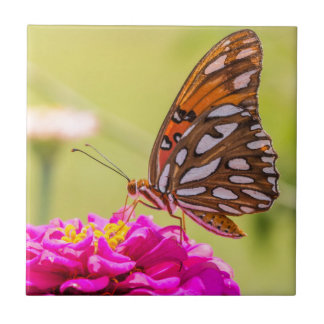 A Summer Butterfly Small Square Tile