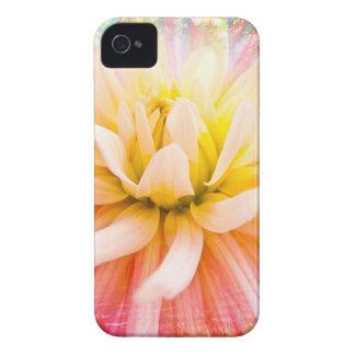 A summer Dahlia flower on vivid background iPhone 4 Case-Mate Case