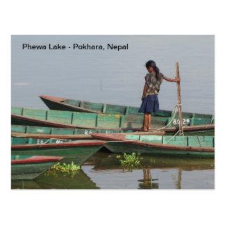 A Summer Day at Phewa Lake Postcard