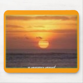 a summer sunset mouse pad