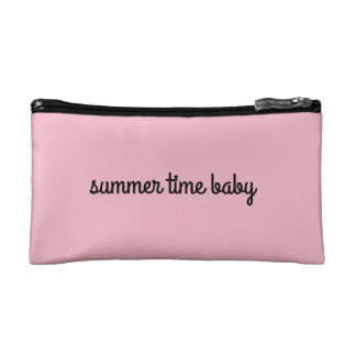 a summertime handy pouch. cosmetic bag