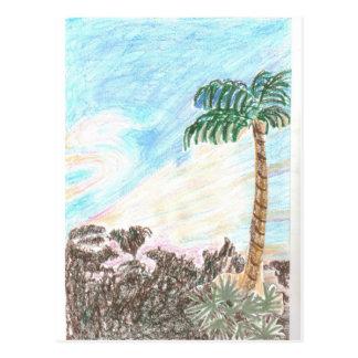 A Sun Set in Paridise Postcard