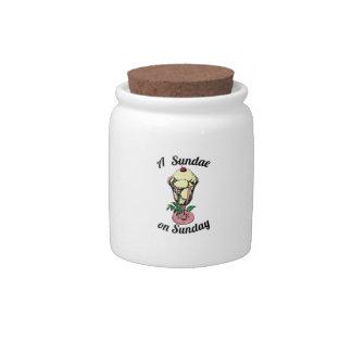 A Sundae on Sunday Candy Jar