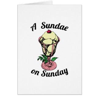 A Sundae on Sunday Cards