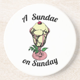A Sundae on Sunday Drink Coaster