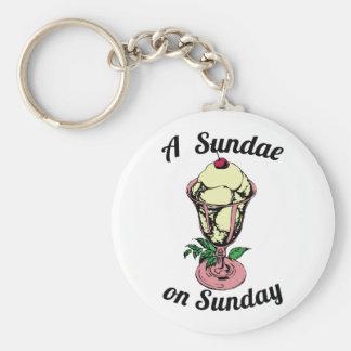 A Sundae on Sunday Keychain