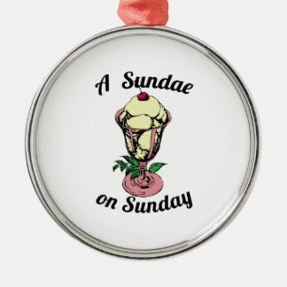 A Sundae on Sunday Ornaments