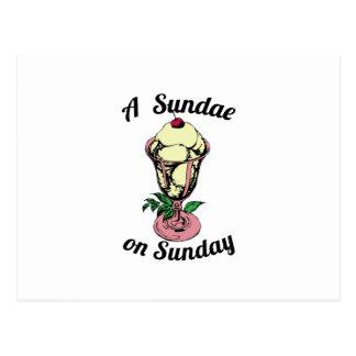 A Sundae on Sunday Postcard