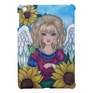 """A Sunflower Blessing"" angel hard iPad mini case"