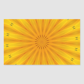 A Sunflower Kaleidoscope Rectangular Sticker