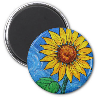 A Sunflower Magnet
