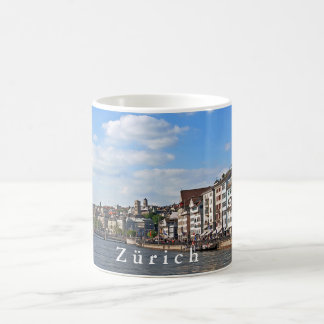 A sunny day on the embankment of the Limmat river. Coffee Mug