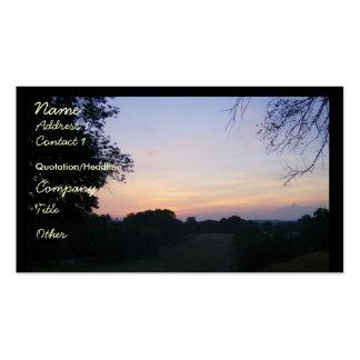 A Sunset Business Card