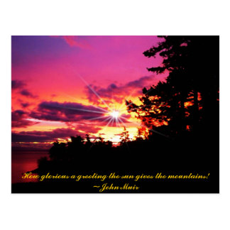 A sunset in time Orcas Island Sunset postcard