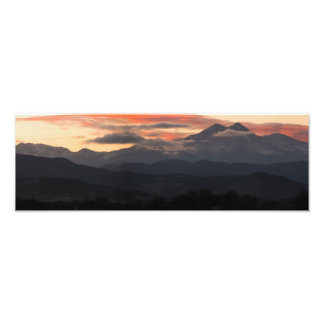 A Sunset Over Long's Peak In Colorado Photographic Print