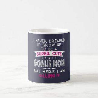 A Super cute Goalie Mom Coffee Mug