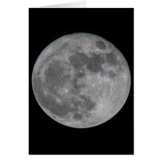 A Super Moon in Sedona Card