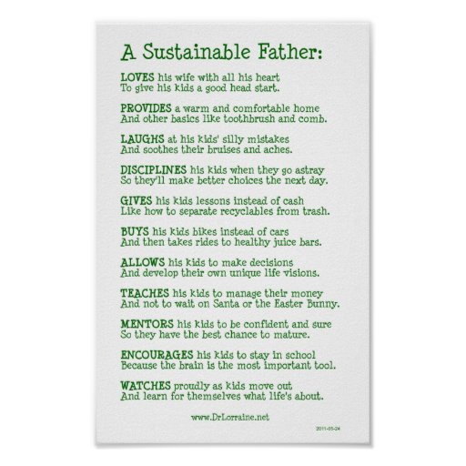 A Sustainable Father Print