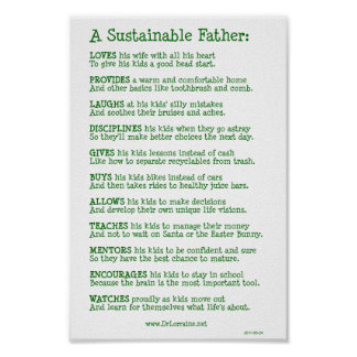 A Sustainable Father Poster