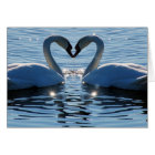 A Swan Heart Kiss, Reflections of Love Card