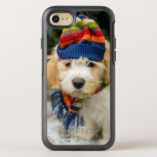 A Sweet Cavachon Puppy In A Winter Hat And Scarf OtterBox Symmetry iPhone 8/7 Case