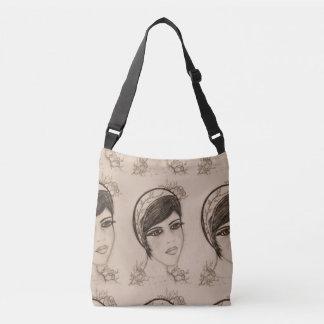 A Sweet Flapper in Sepia Crossbody Bag
