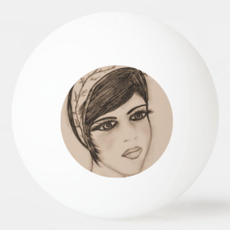 A Sweet Flapper in Sepia Ping Pong Ball