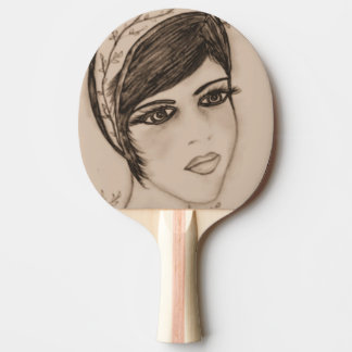 A Sweet Flapper in Sepia Ping Pong Paddle