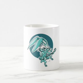 a sweet rabbit playing guitar funny cartoon coffee mug