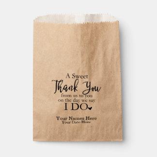 A Sweet Thank You Favor Bags, Wedding Favors Favour Bag