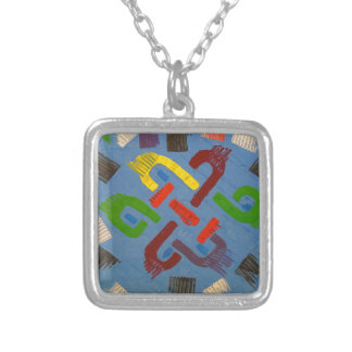 A symbol of success and good luck silver plated necklace