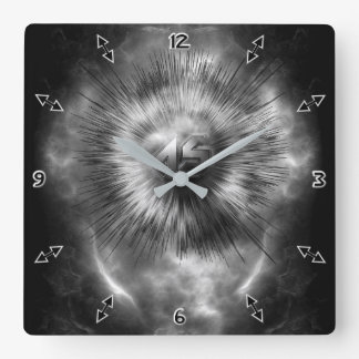 A-Synchronous Ethereal Clouds Wall Clock