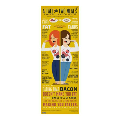 A Tale Of 2 Meals Infographic Poster Zazzle