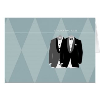 A Tale of Two Tuxes Note Card