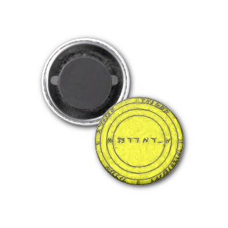 A Talisman to ensure all prosperity 3 Cm Round Magnet