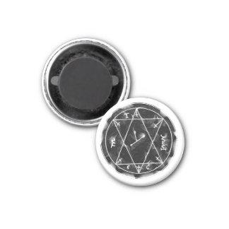 A Talisman to find Hidden Treasures 3 Cm Round Magnet