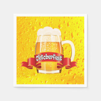 A Tall One Oktoberfest Party Paper Napkins