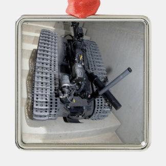 A Talon 3B robot unit climbing a flight of stai Metal Ornament
