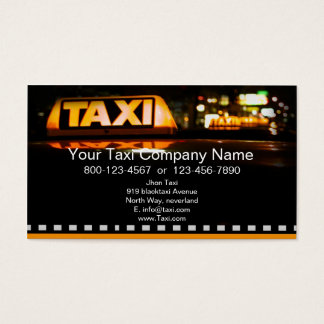 A Taxi Service Business Card