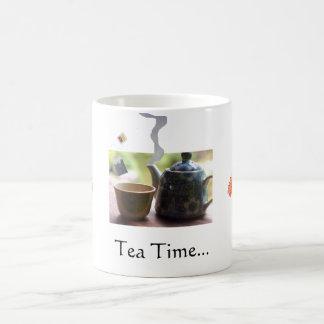 A tea set... basic white mug