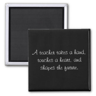 A teacher takes a hand, touches a heart, and sh... magnet