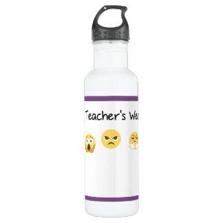 A Teacher's Week Water Bottle (710 ml), White