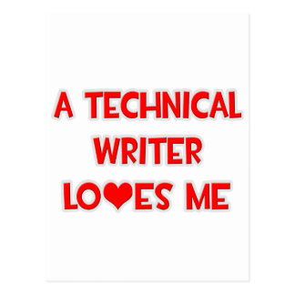 A Technical Writer Loves Me Postcards