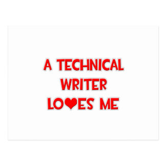 A Technical Writer Loves Me Postcard