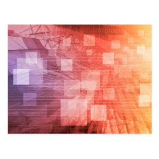 A Technology Industry Network As a Wallpaper Postcard