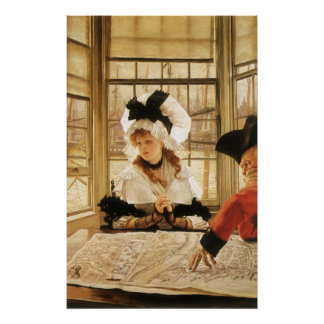 A Tedious Story by James Tissot Poster